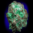 Brochantite on Hematite