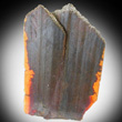 Color-Zoned Orange Brookite