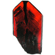 Red Flattened Brookite Crystal
