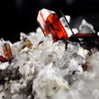 Sharp Brookite on Quartz