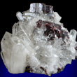 Twinned Brookite in Quartz