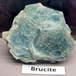 Blue Foliated Brucite Crystals