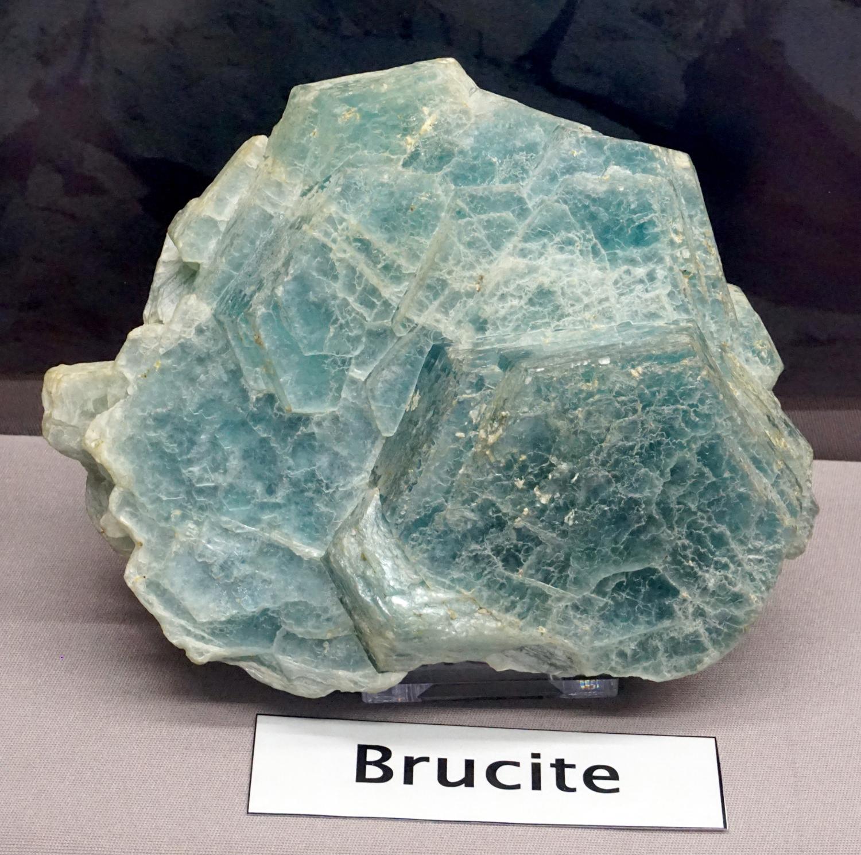 Blue Foliated Brucite Crystals