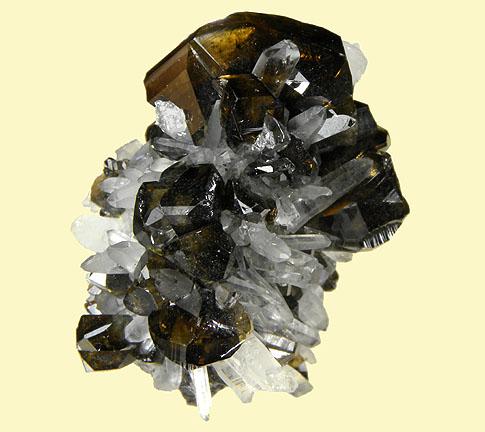 Gemmy Cassiterite with Quartz