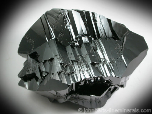 Twinned Black Cassiterite Crystals
