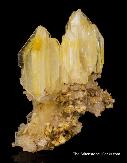 Yellow Cerussite Twins