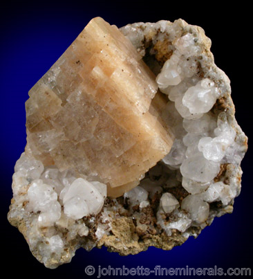 Tan Colored Chabazite Rhomb
