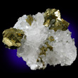 Bright Golden Chalcopyrite with Quartz