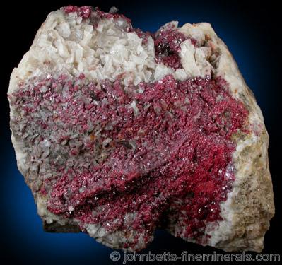 Sparking Cinnabar Crystal Cluster