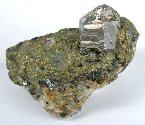 Large Cobaltite Crystal on Matrix