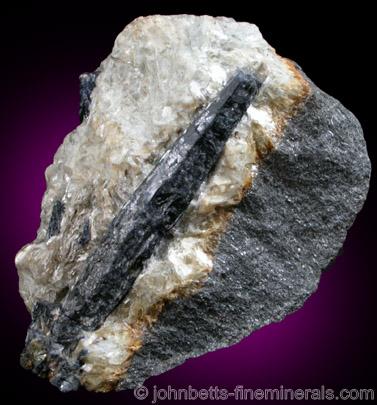Elongated Sapphire Crystal