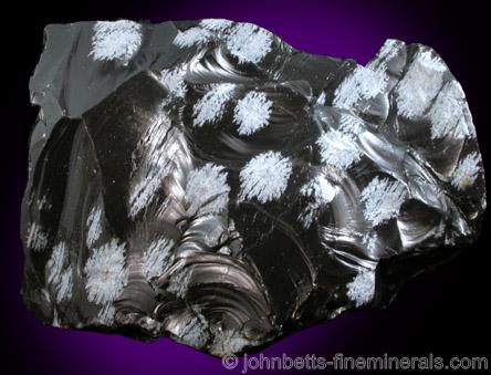 Cristobalite in Snowflake Obsidian