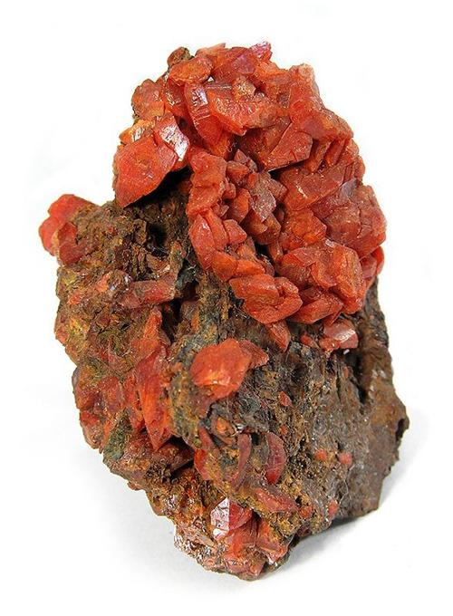 Stubby Crocoite Crystals