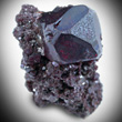 Complex Transparent Cuprite Crystal