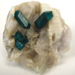Dioptase Crystals on Quartz