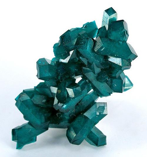 Intergrown Dioptase Crystal Cluster