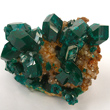 Dioptase on Calcite Matrix