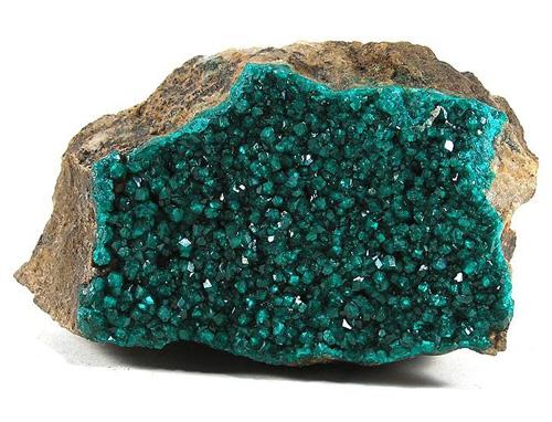 Drusy Dioptase Crystals