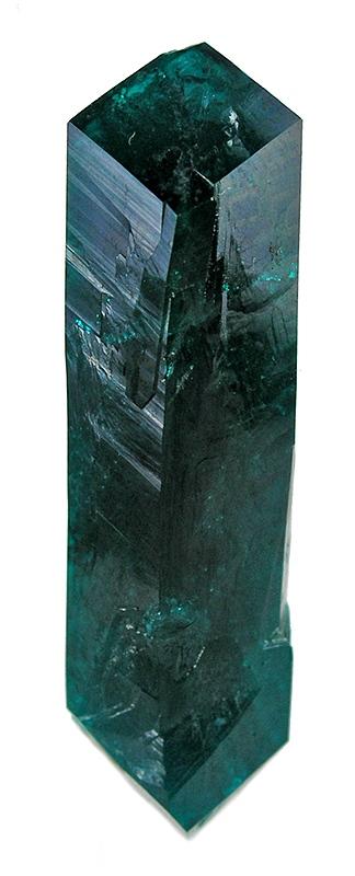 Single Elongated Dioptase Crystal