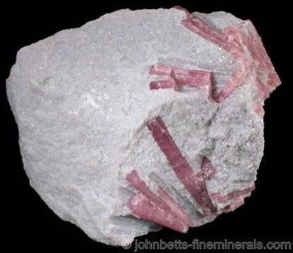 Rubellite in Lepidolite from Stewart Mine, Pala District, San Diego County, California