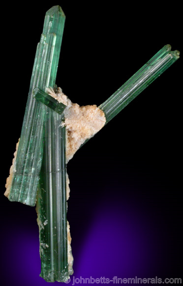 Sculptural Elbaite Crystals from Pederniera Mine, Minas Gerais, Brazil