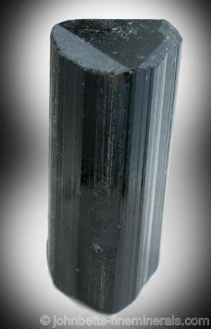 Black Elbaite Tourmaline from Minas Gerais, Brazil