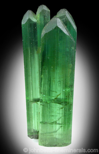 Bright Green Elbaite Crystal Group
