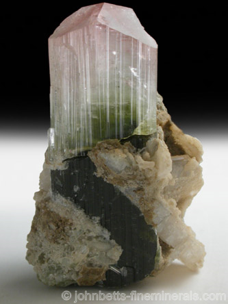 Elbaite in Matrix from Stak Nala, Pakistan