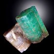 Large Emerald on Matrix