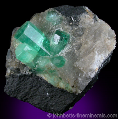 Intersecting Emerald Crystals