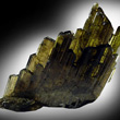 Transparent Epidote Crystal Cluster