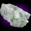Green Fluor-edenite in Marble