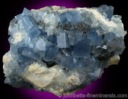 Blue Fluorite Cubes