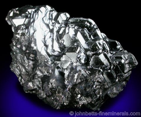 Twinned Galena Crystal Growth