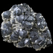 Galena with Dolomite and Chalcopyrite