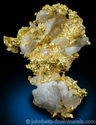 Bright Gold on Quartz