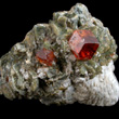 Grossular with Calcite and Diopside