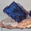Blue Halite Crystals on Sylvite