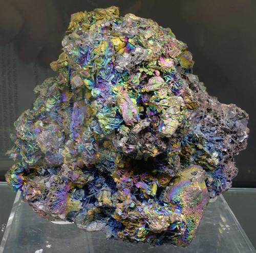 Iridescent Hematite on Kyanite