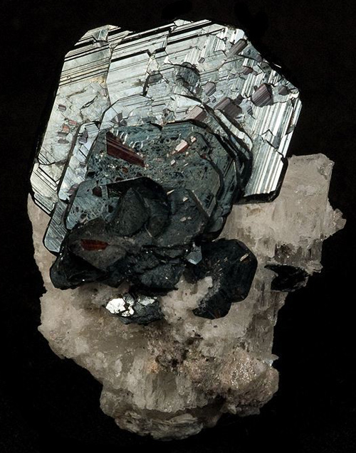 Thick Tabular Hematite with Rutile