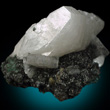 Large White Heulandite on Matrix