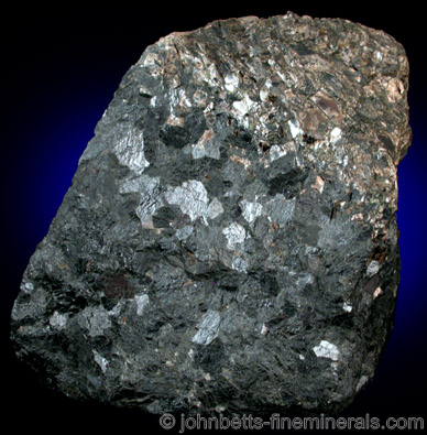 Compact Hornblende Mass from Blue Mine, Ringwood Mining District, Passaic County, New Jersey
