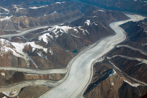 Large Flowing Glacier