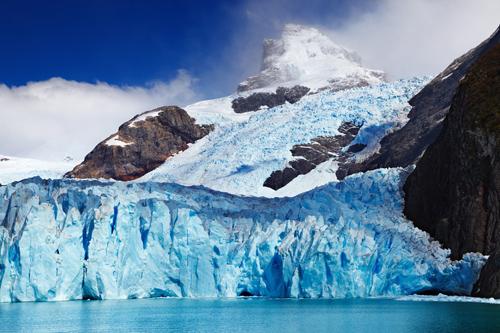 Glacier Flowing Into Ocean