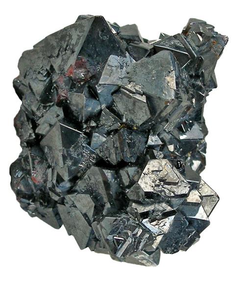 Iodargyrite with Cuprite Crystals
