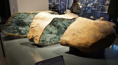 Sliced and Polished Jadeite Boulder