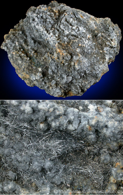 Jamesonite, Quartz, and Pyrite