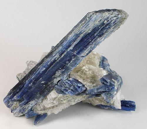 Huge Kyanite Crystal on Quartz