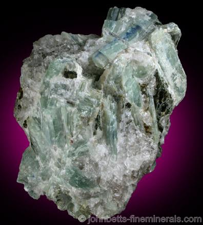 Green Kyanite in Quartz