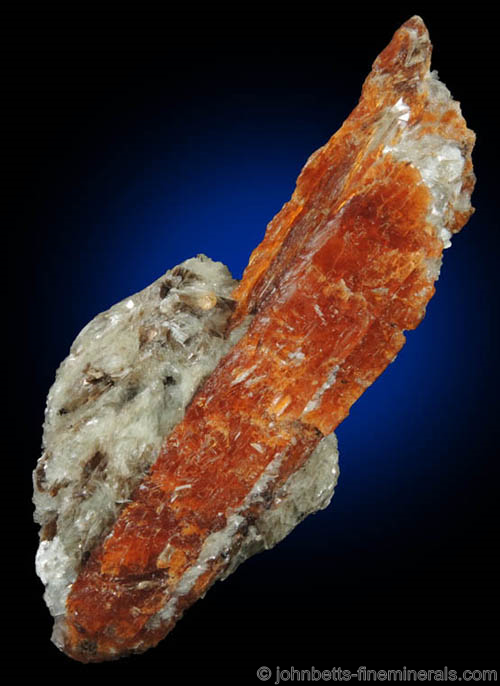 Rare Orange Kyanite from Sangulungulu Hill, Loliondo, Ngoronogro District, Arusha, Tanzania